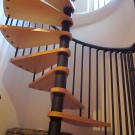 Spiral Staircase to Twin Bedroom